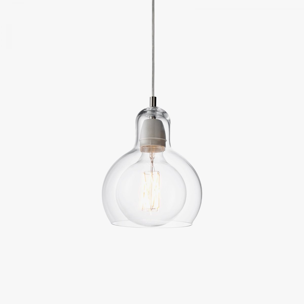 Mega Bulb SR2, clear glass with clear PVC cord.