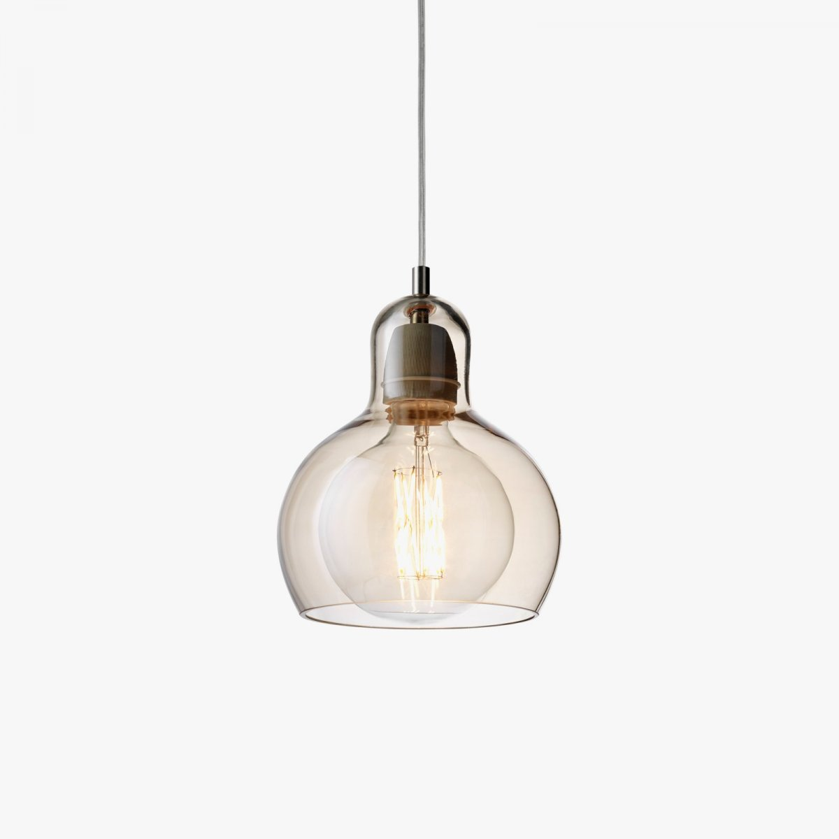 Mega Bulb SR2, gold luster glass with clear PVC cord 