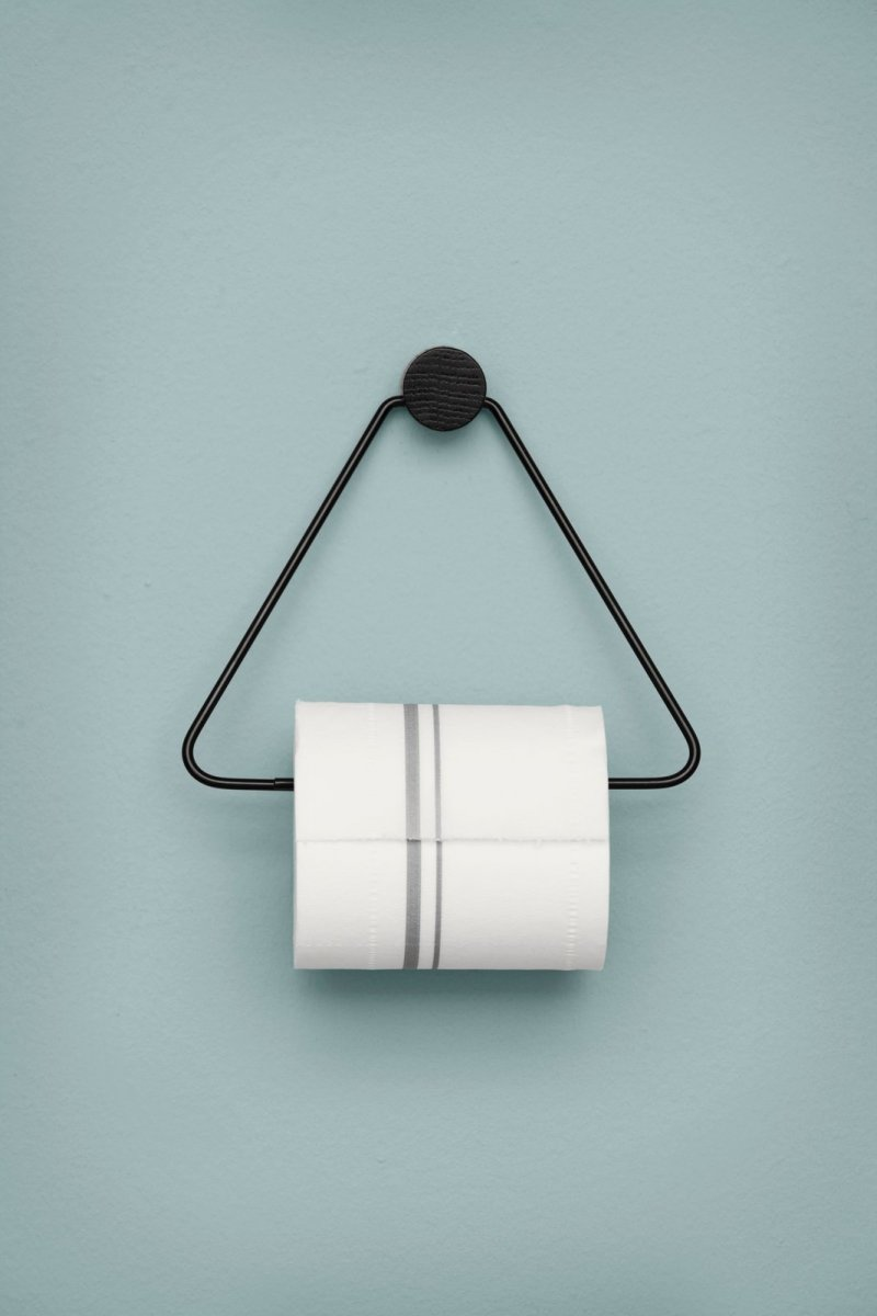 Toilet Paper Holder, black.