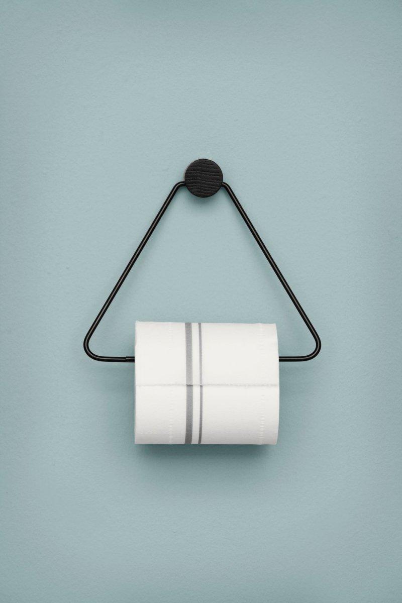 Toilet Paper Holder, black.
