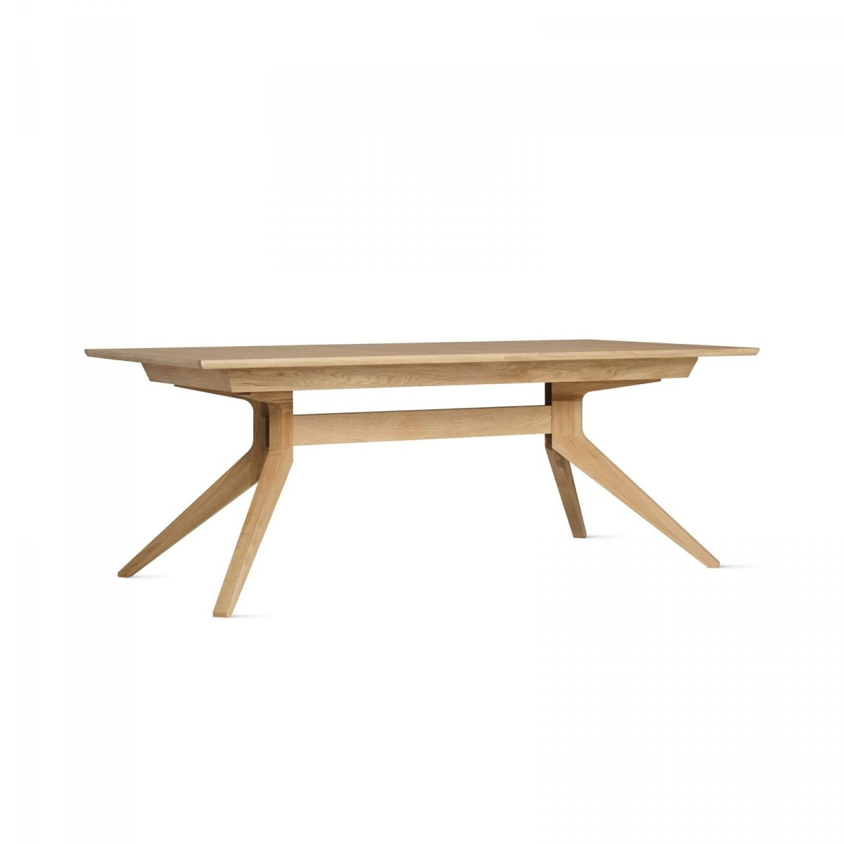 Cross Extending Table, oak.