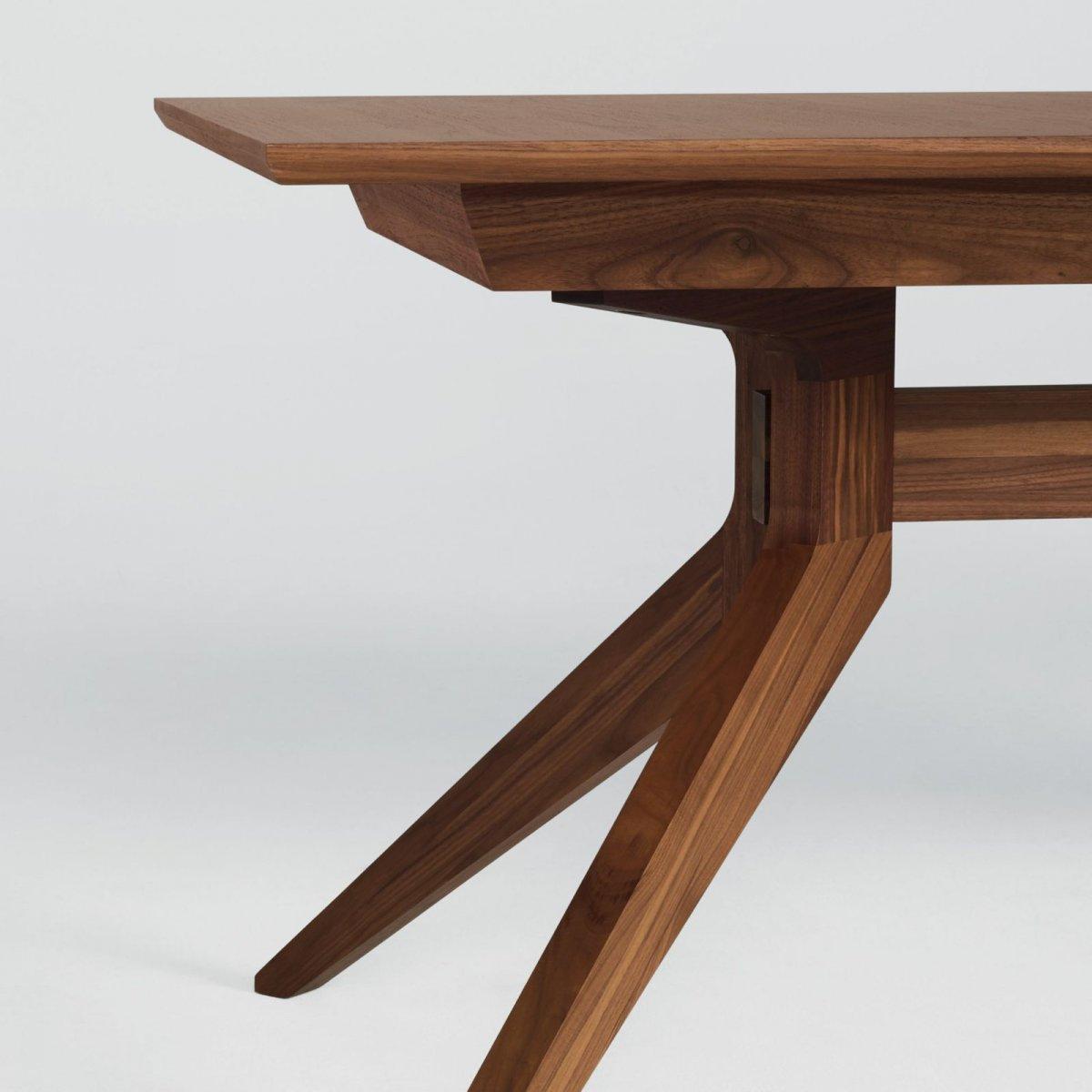 Cross Extending Table, walnut, detail.