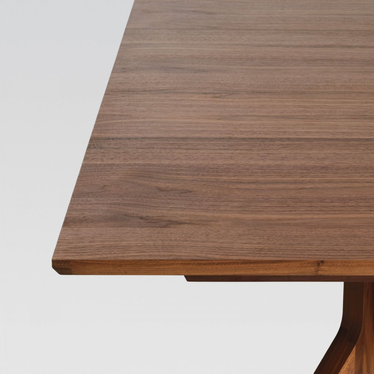 Cross Extending Table, oak, detail.