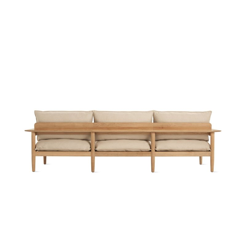 Terassi Three-Seater Sofa, papyrus, back view.