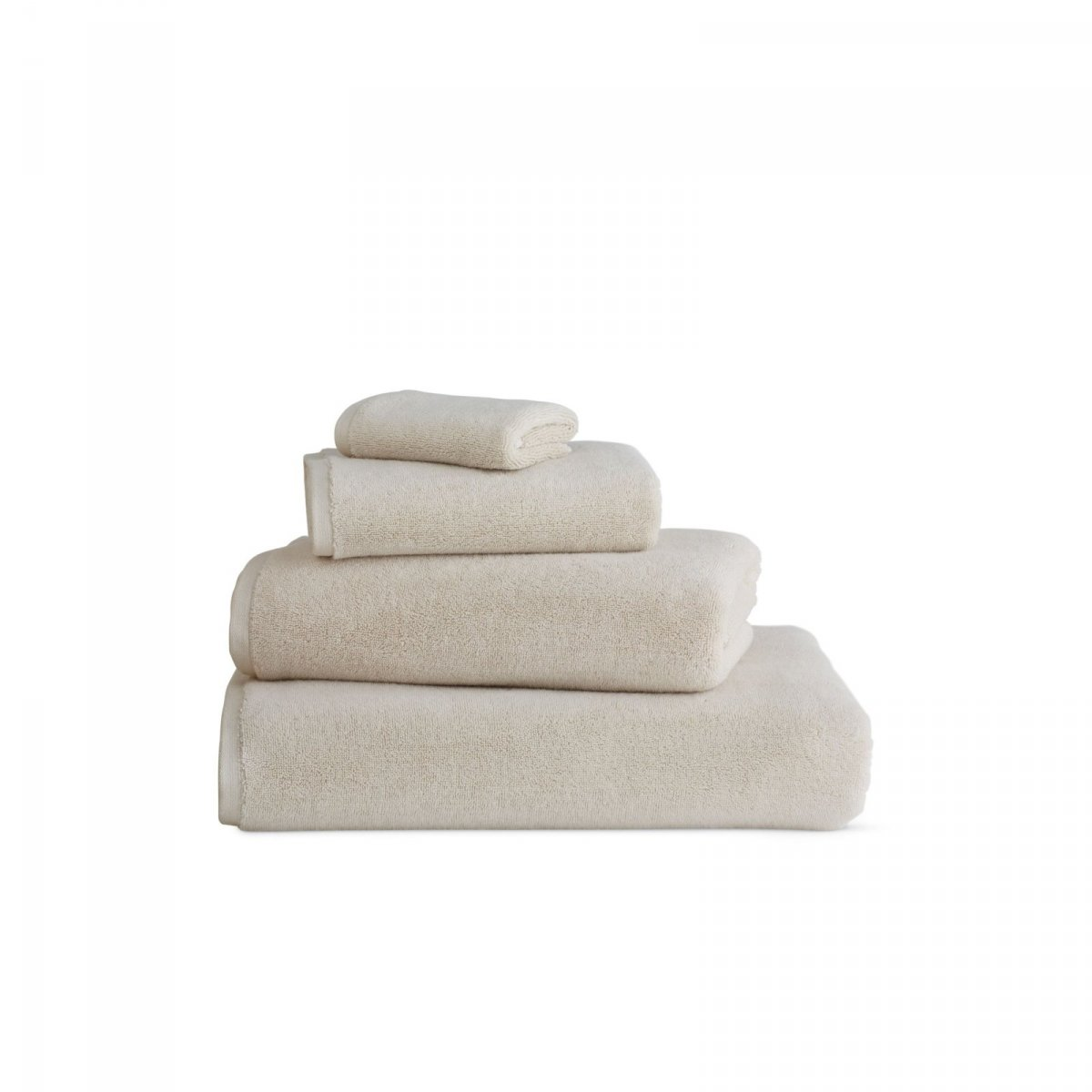 DWR Aerocotton Towels, beige.