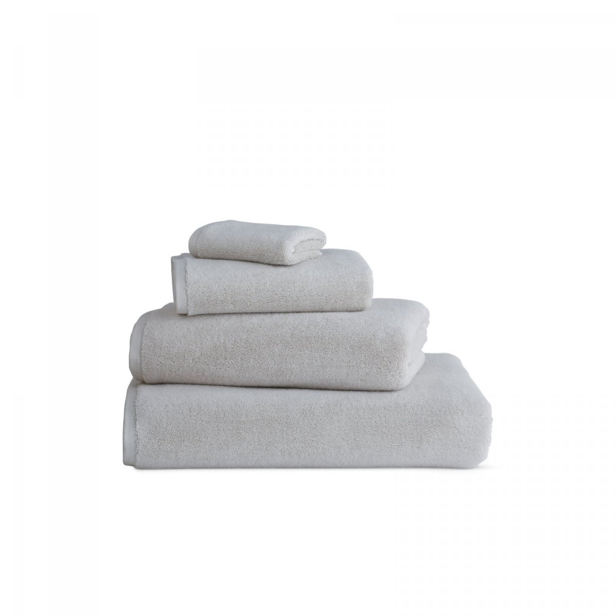 DWR Aerocotton Towels, gray.