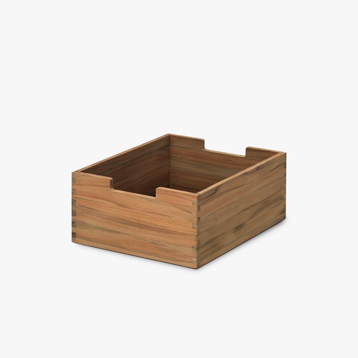 Cutter Box, Low, teak.