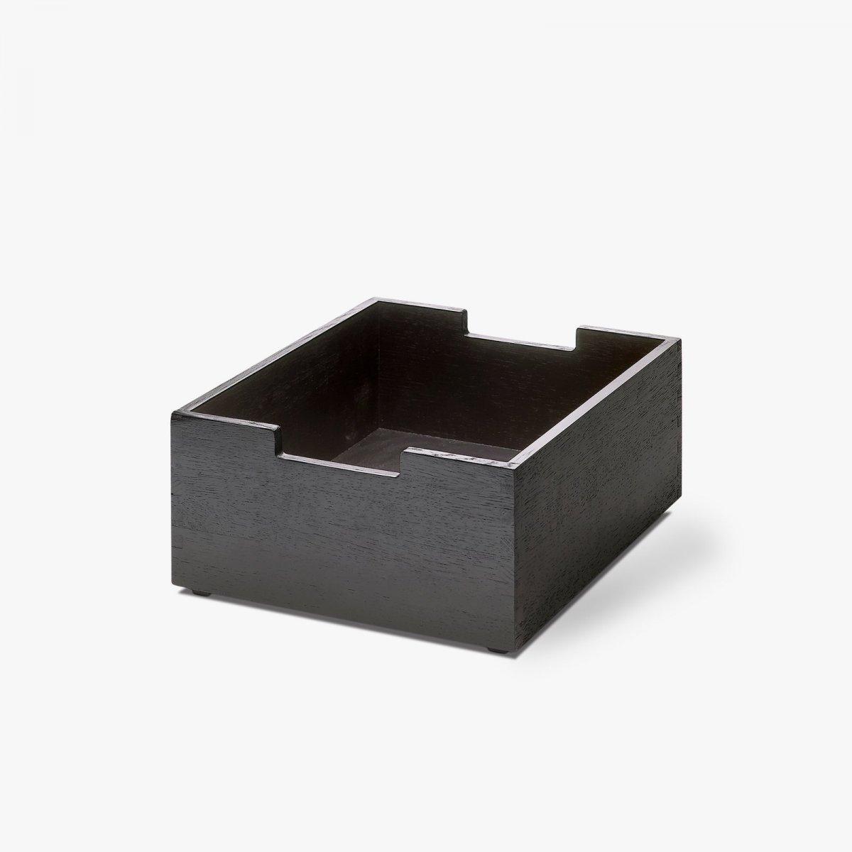 Cutter Box, Low, black oak.