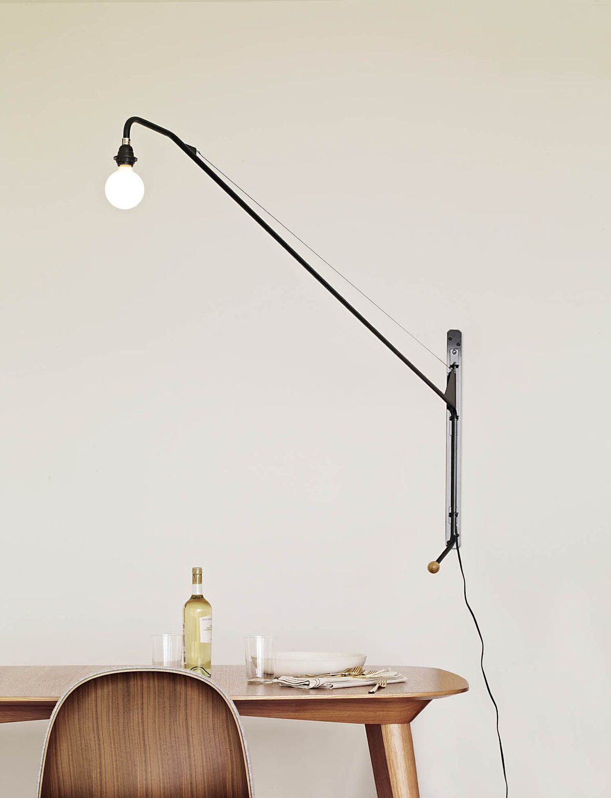 potence pivoting wall lamp by jean prouv for vitra up interiors. Black Bedroom Furniture Sets. Home Design Ideas
