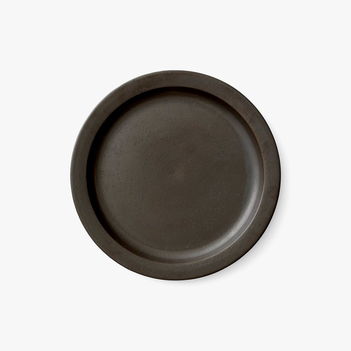 New Norm Dinnerware Plate/Dish, dark glazed.