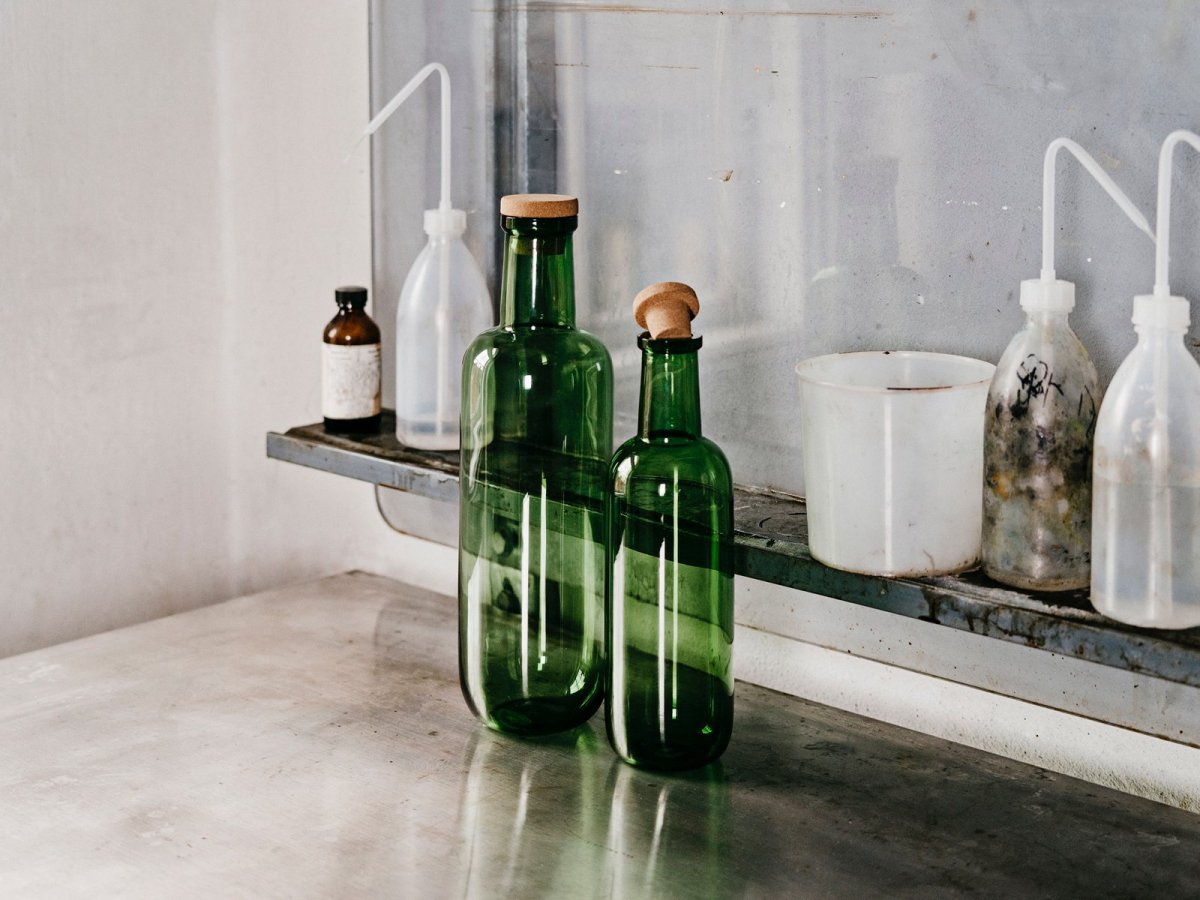 HAY Bottles, green.