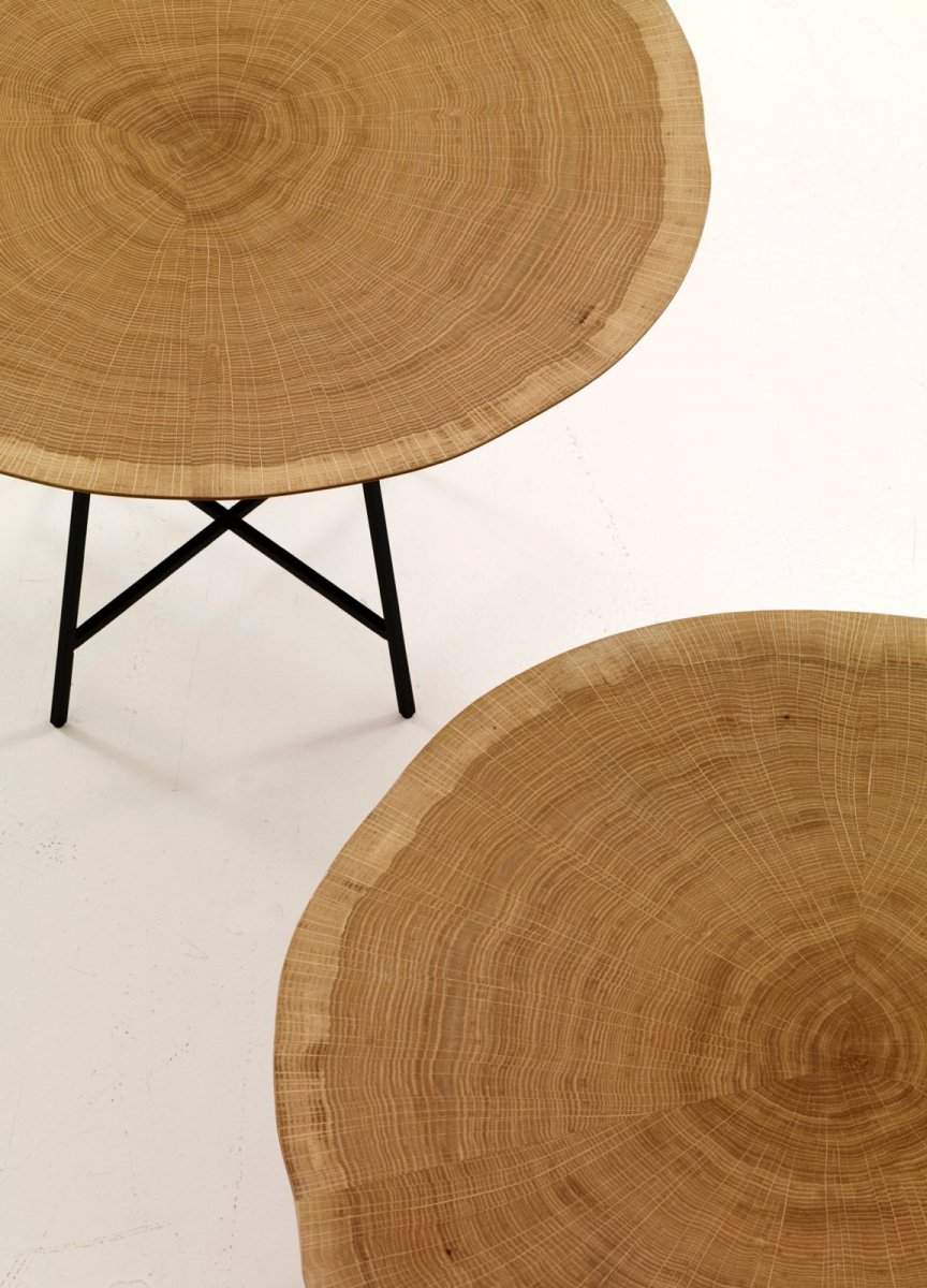 Alburni occasional tables, detail.