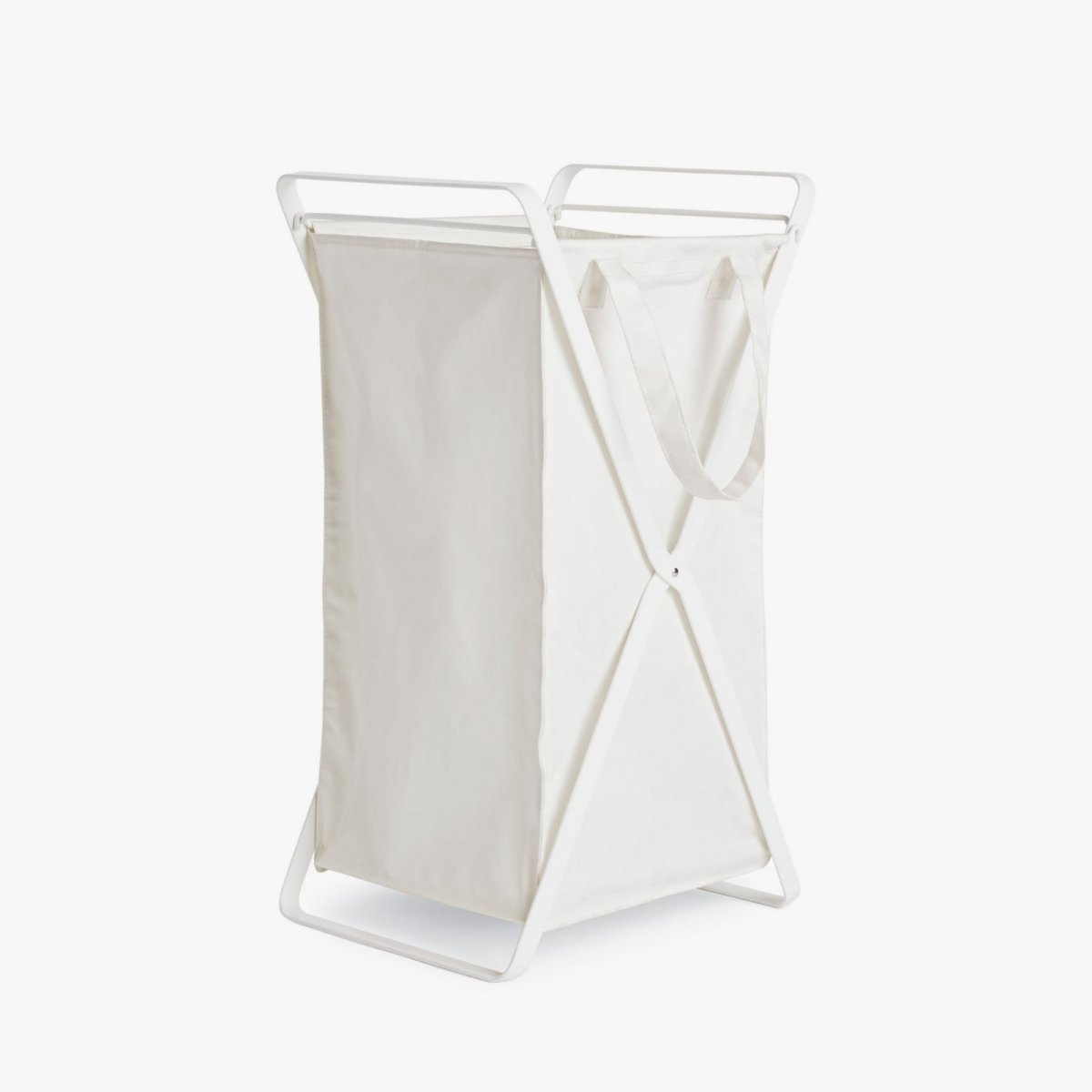 Tower Laundry Basket, S, white.
