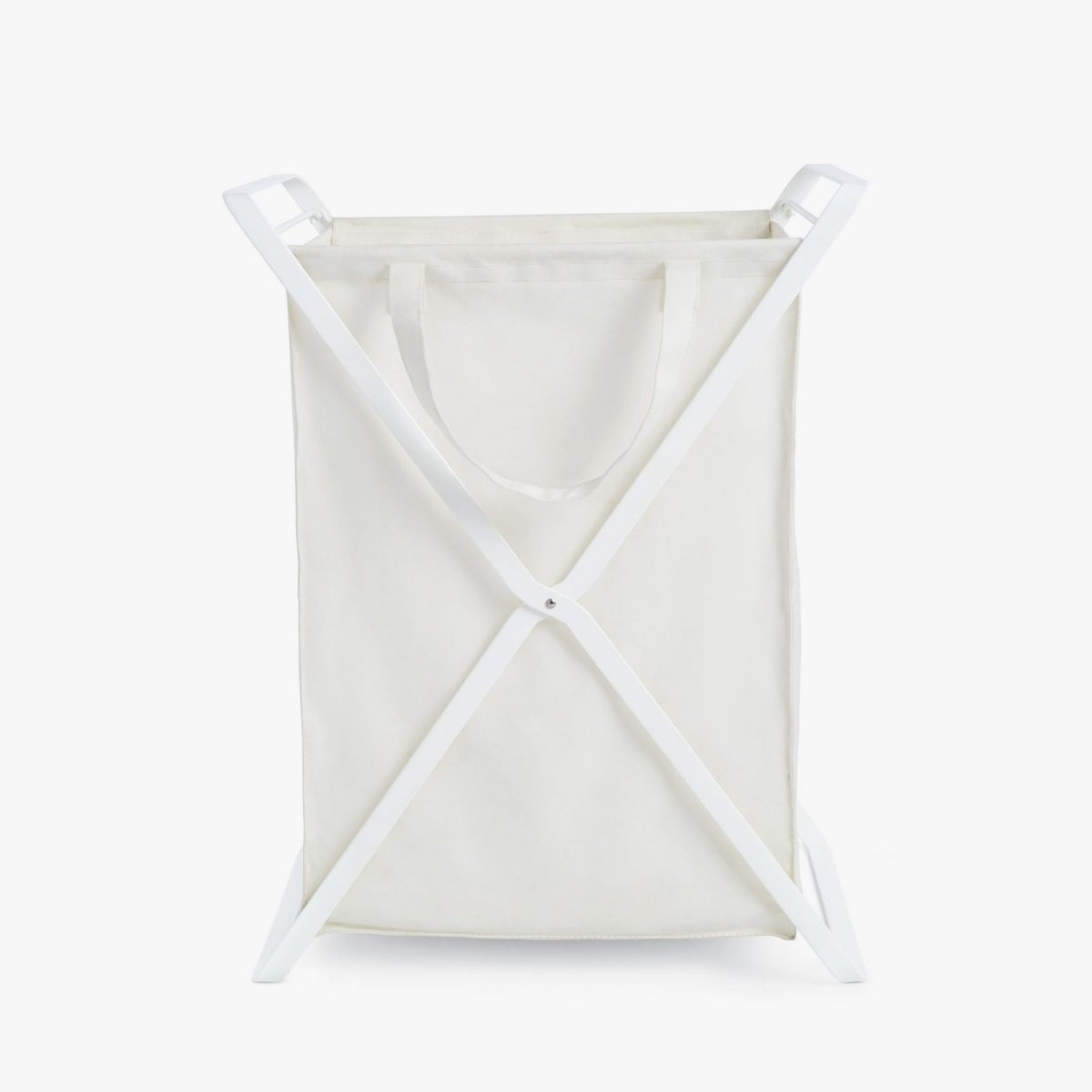 Tower Laundry Basket, L, white.