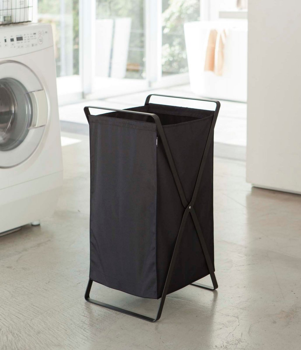 Tower Laundry Basket, S, black.
