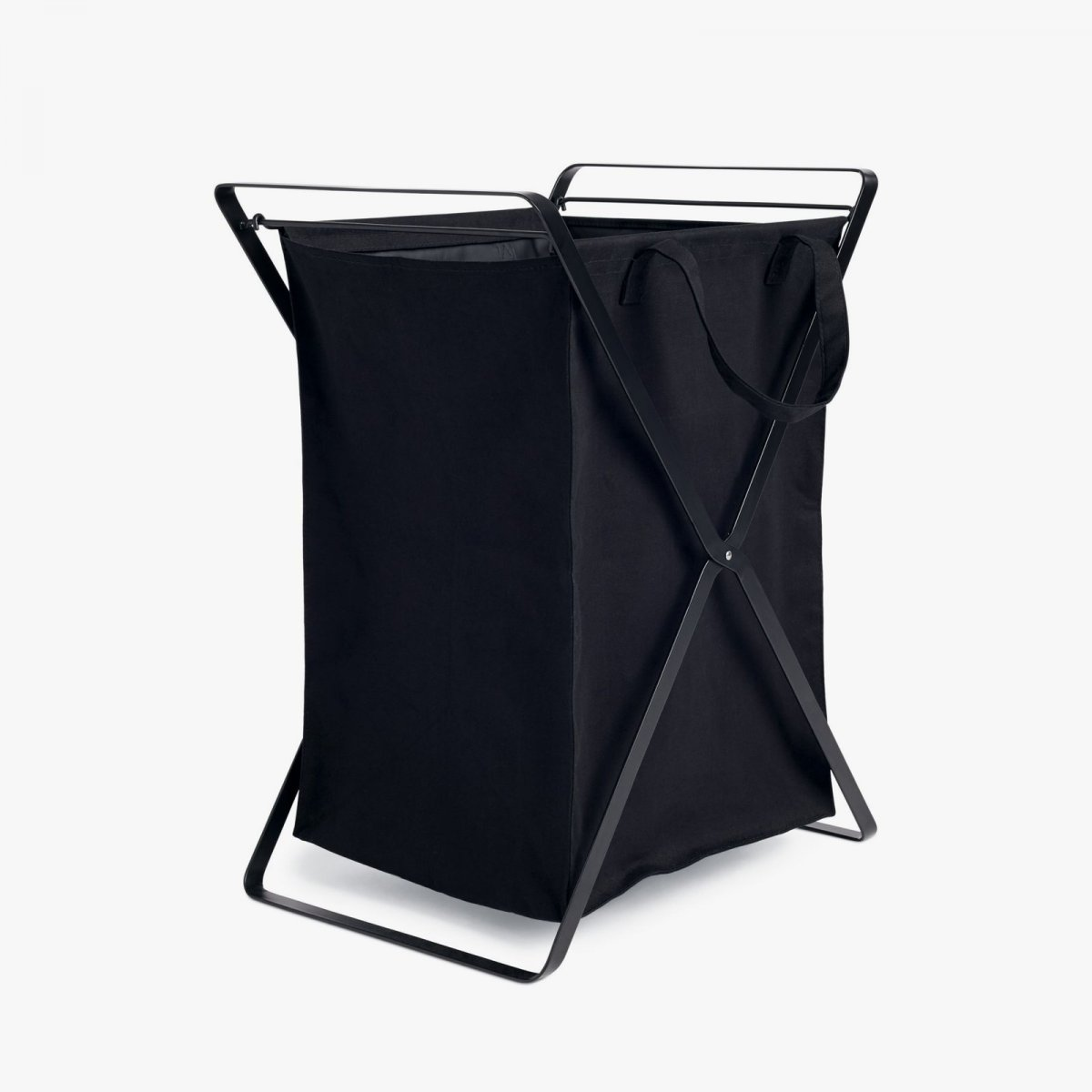 Tower Laundry Basket, L, black.