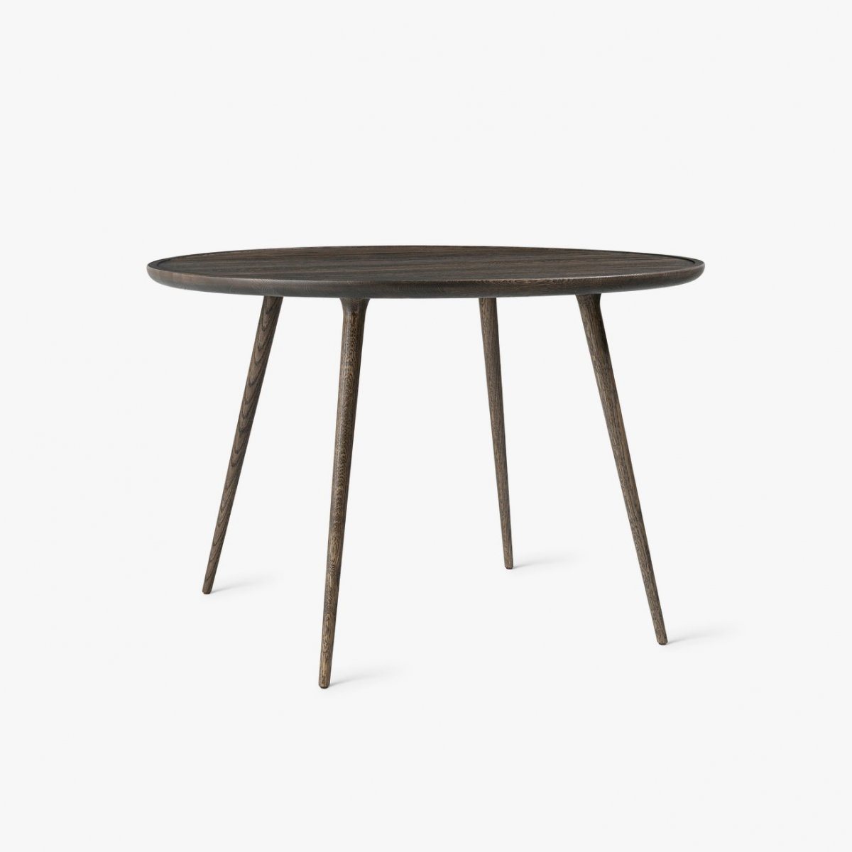 Accent Dining Table, Ø 110, Sirka grey stain.