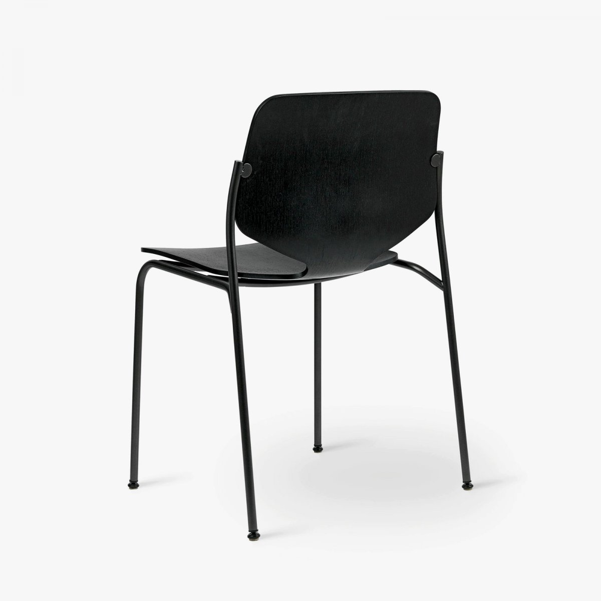 Nova Chair, black stain, back view.