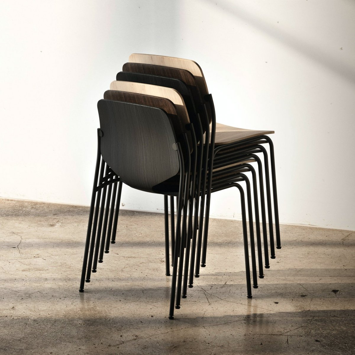 Nova Chairs, stacked.