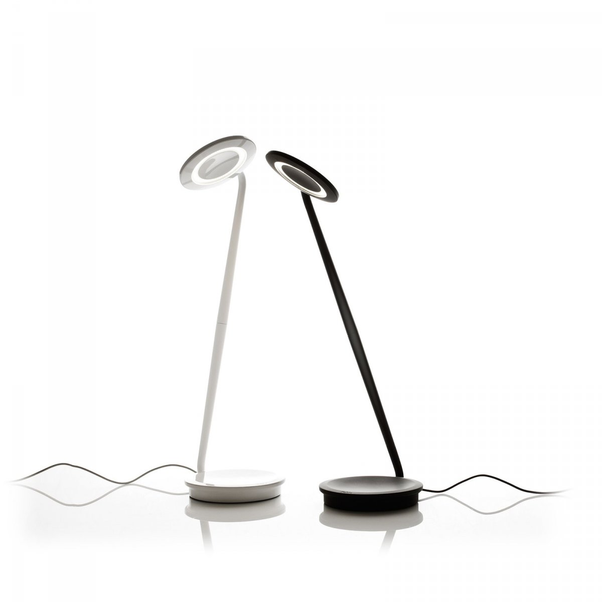 Pixo work lamps, white and graphite.