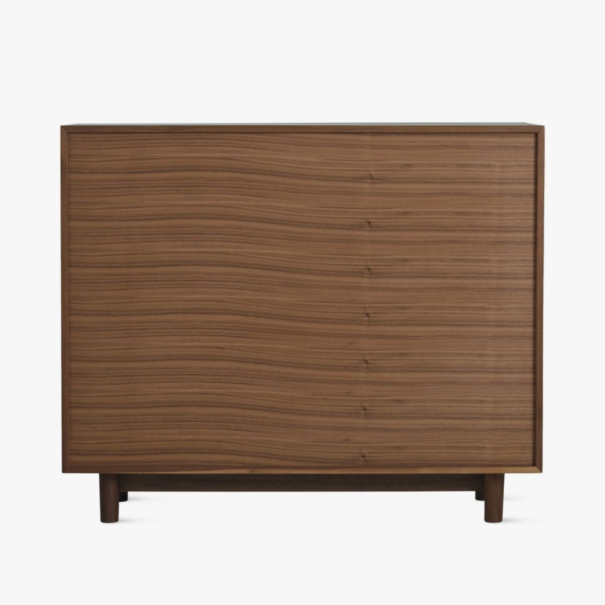Edel Console, walnut, back view.