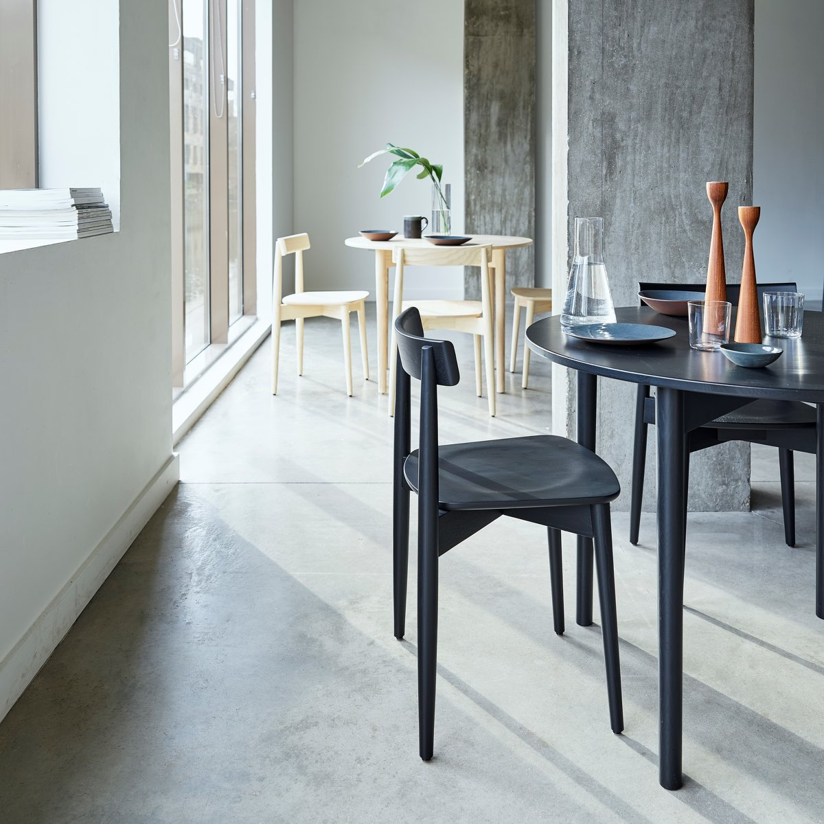 Lara Chairs and Luca Tables.