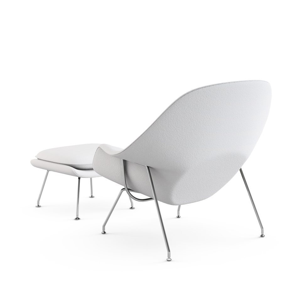 Womb Chair with Ottoman Journey Jingle back view.  sc 1 st  UP interiors & Womb Chair with Ottoman by Eero Saarinen for Knoll | UP interiors