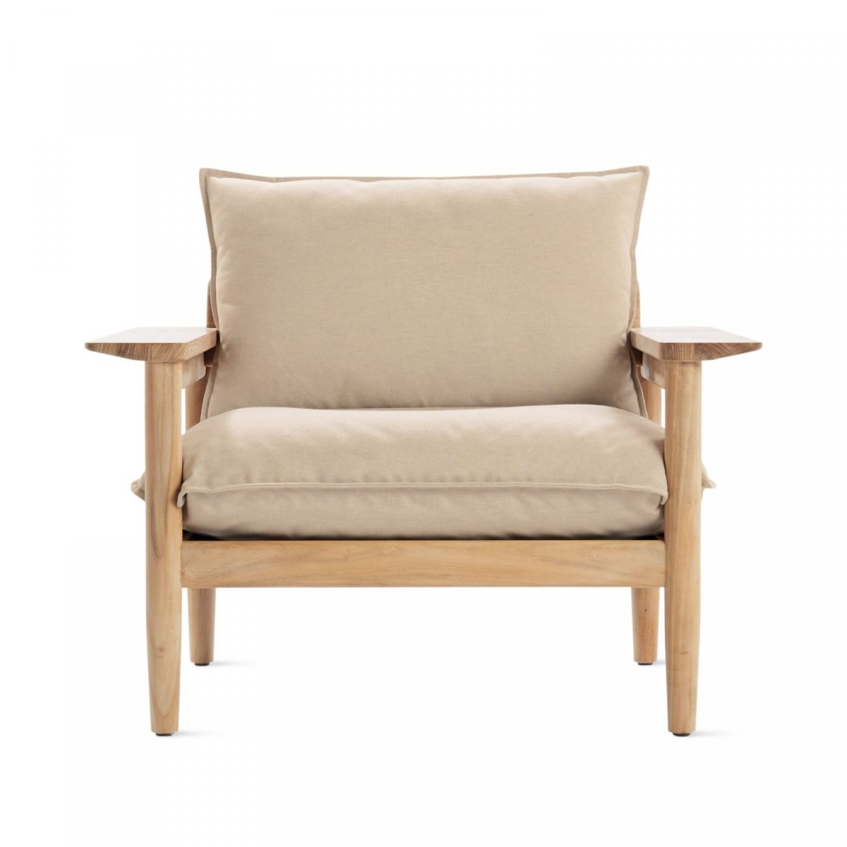 Terassi Lounge Chair, papyrus, front view.