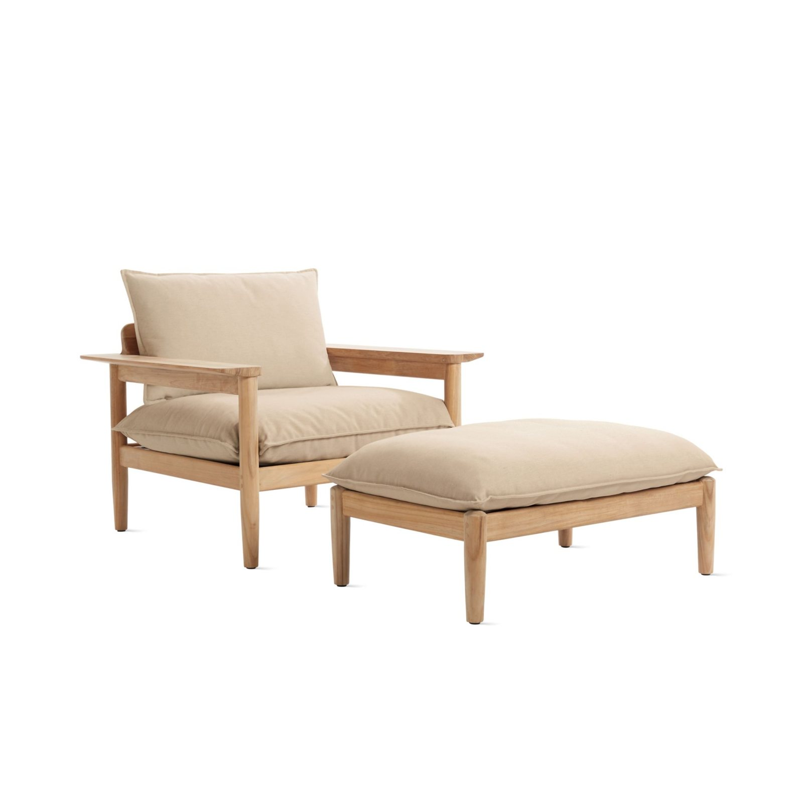 Terassi Lounge Chair And Ottoman, Papyrus.