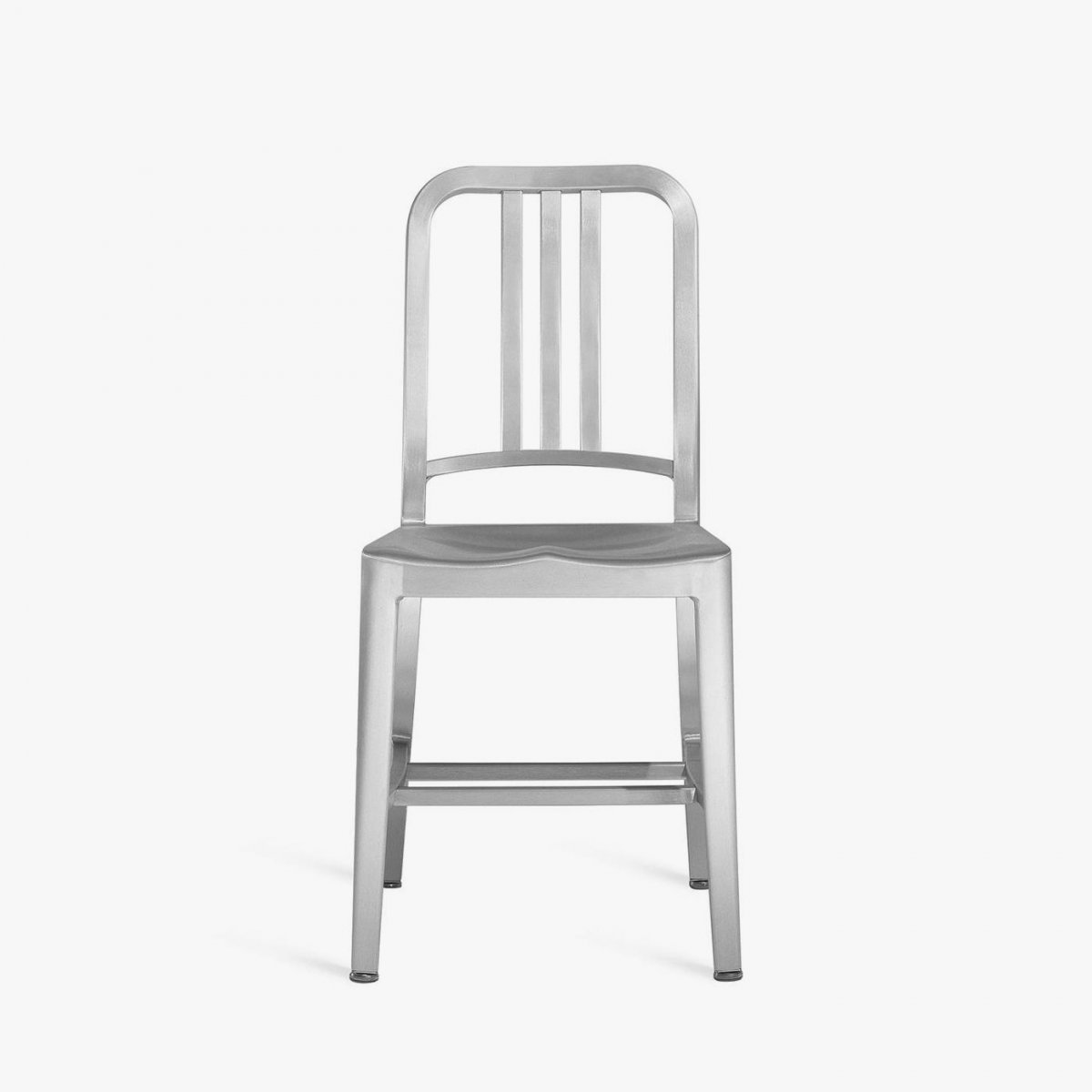 Navy Chair, hand-brushed, front view.