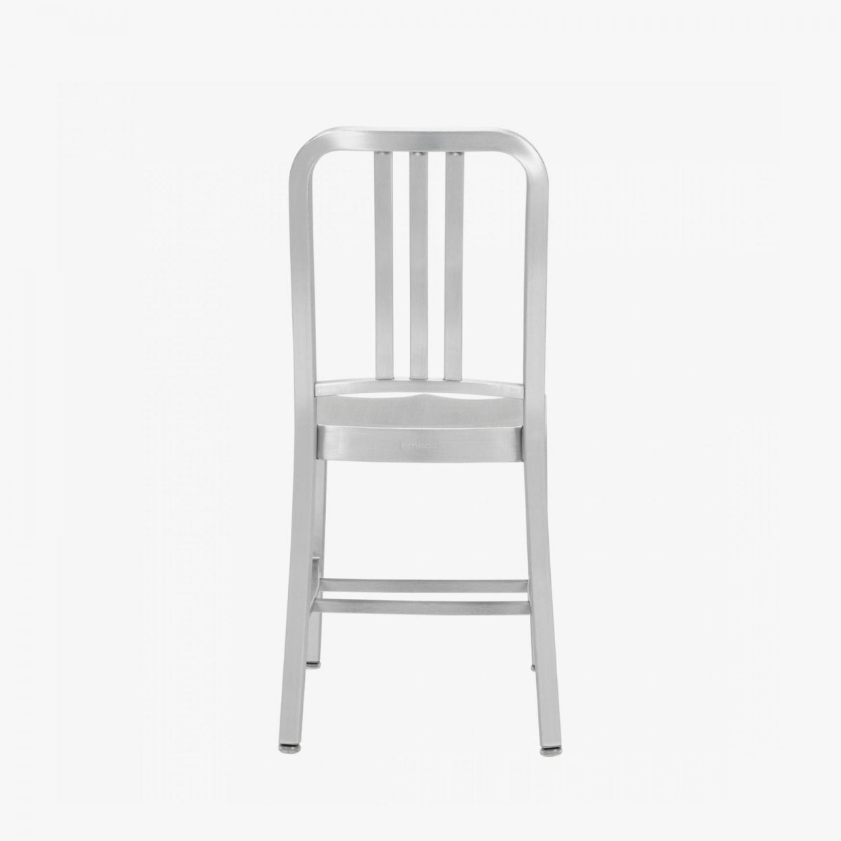 Navy Chair, hand-brushed, back view.