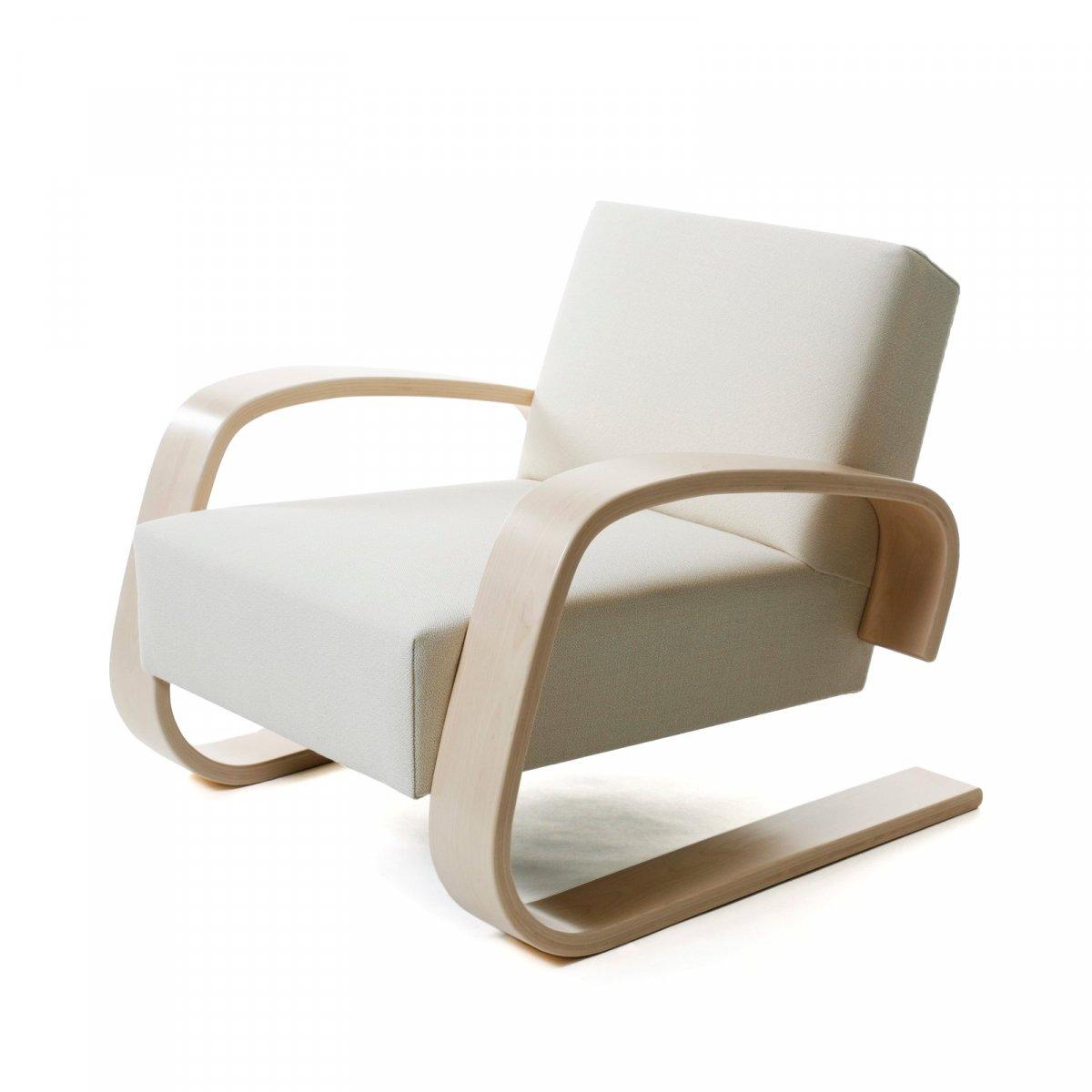 """Armchair 400 """"Tank Chair"""", white."""