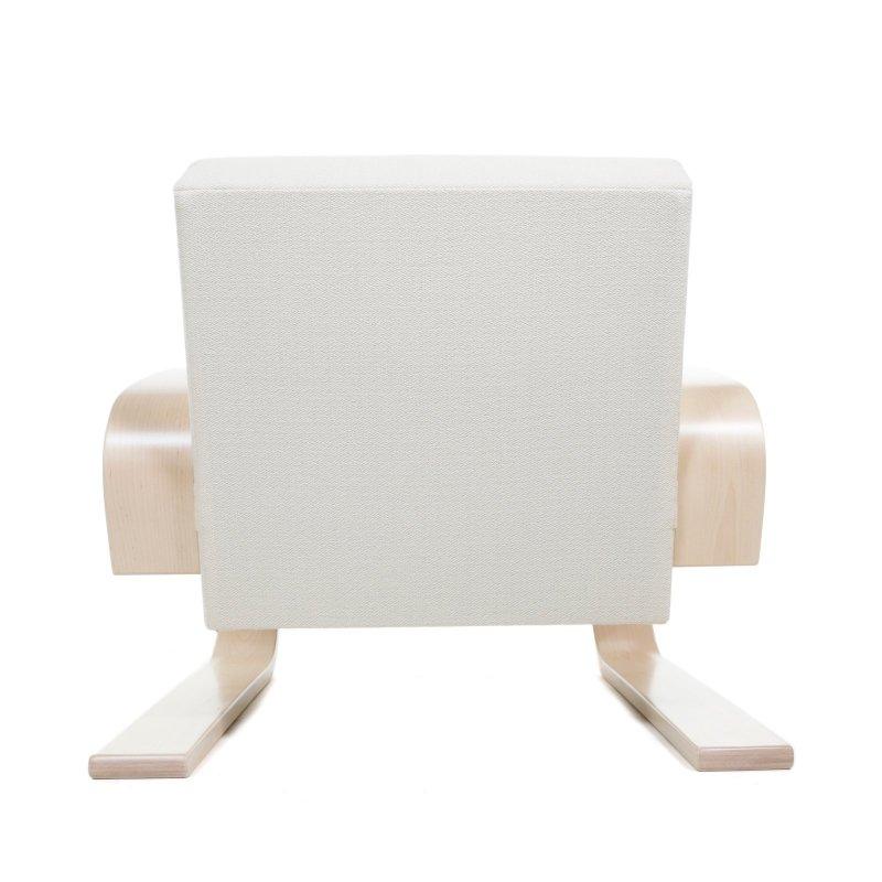 "Armchair 400 ""Tank Chair"", white, back view."