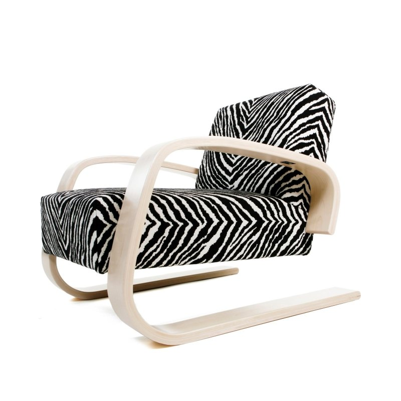 "Armchair 400 ""Tank Chair"", zebra."