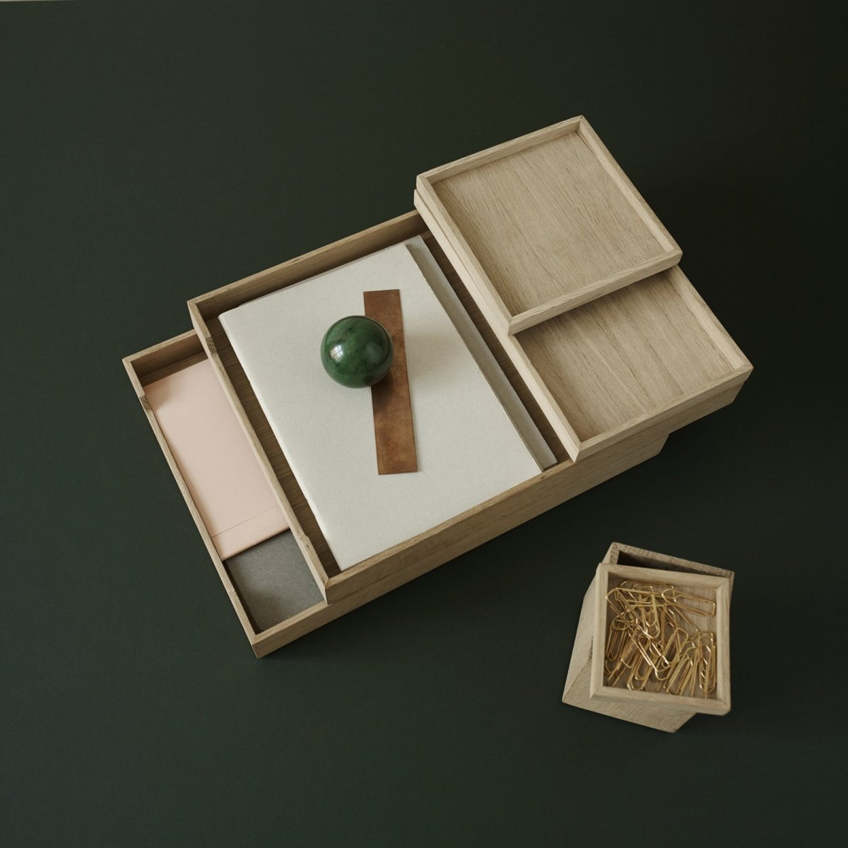 Nomad Tray with Letter Tray and Pen Holder.