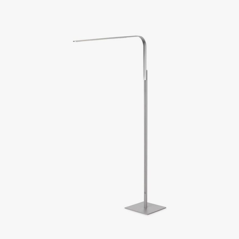 Lim Floor lamp, brushed aluminum.