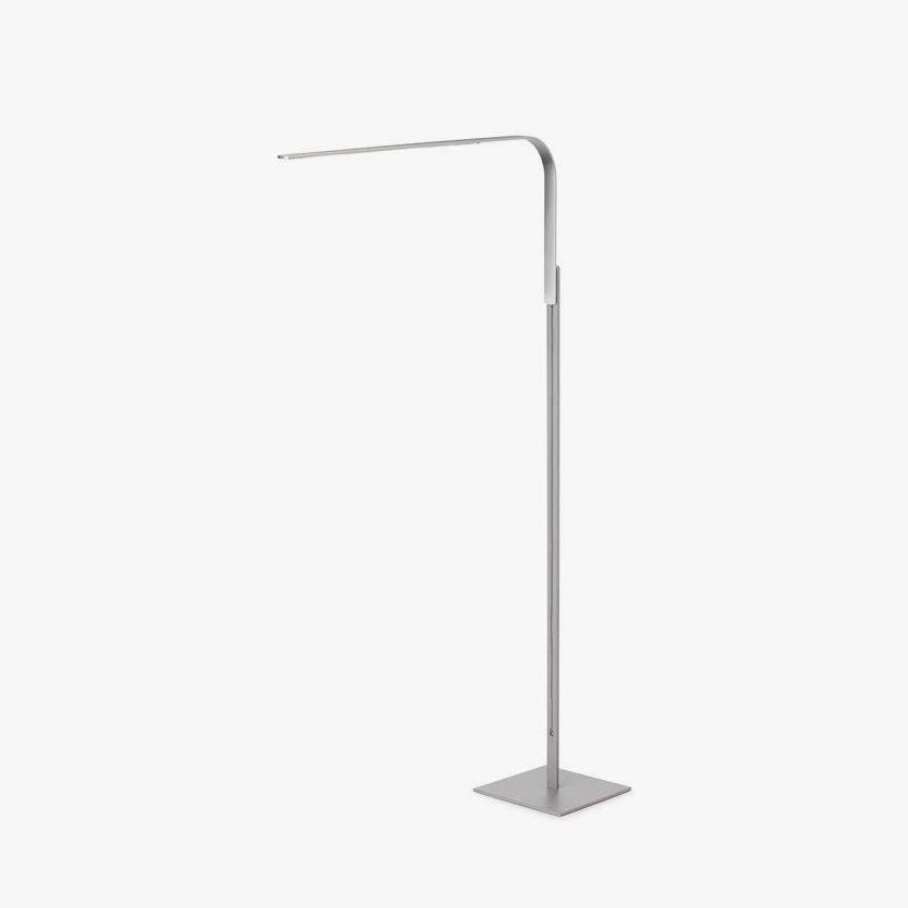 Lim Floor lamp, brushed aluminum.