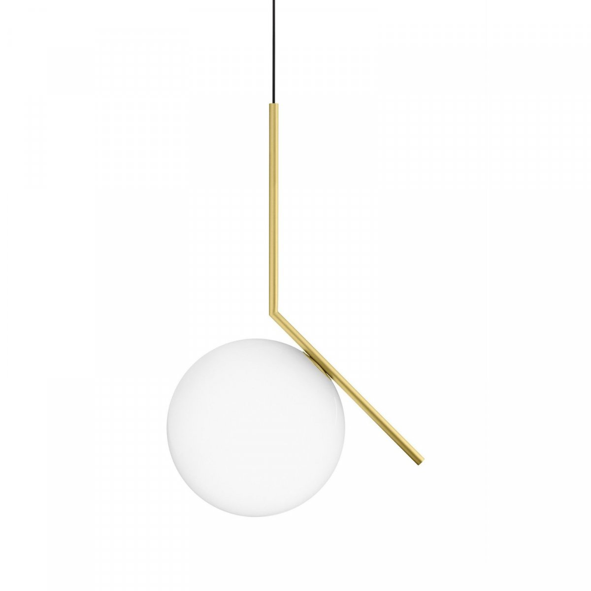 IC S2 pendant lamp, brushed brass.