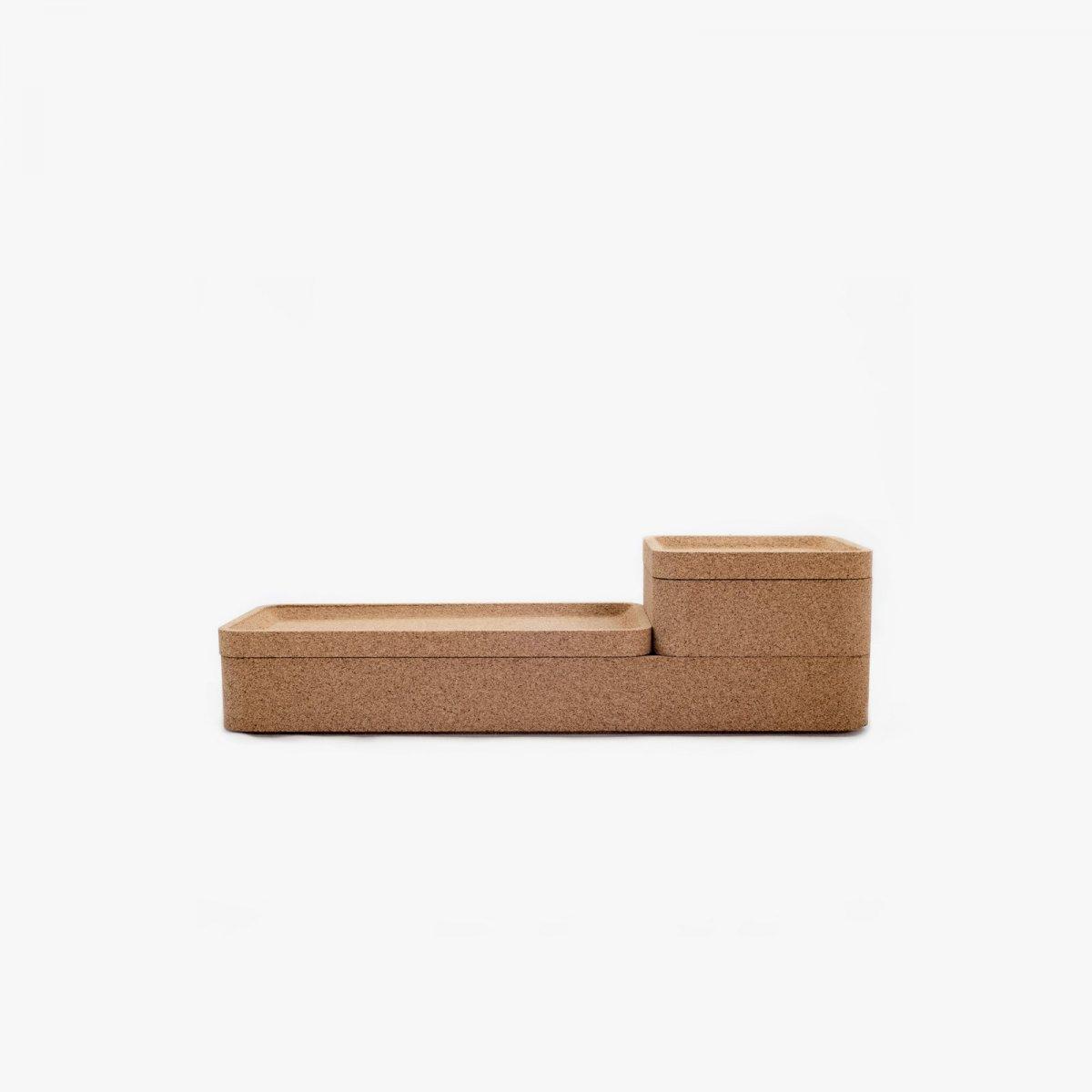 Trove Base Tray with Small Square Box.