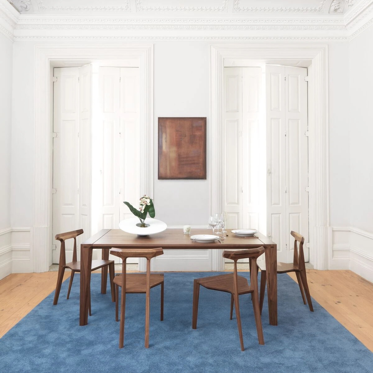 Orca Chairs and Raia Dining Table.