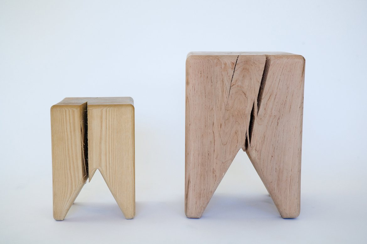 Stump Stools, small and large.