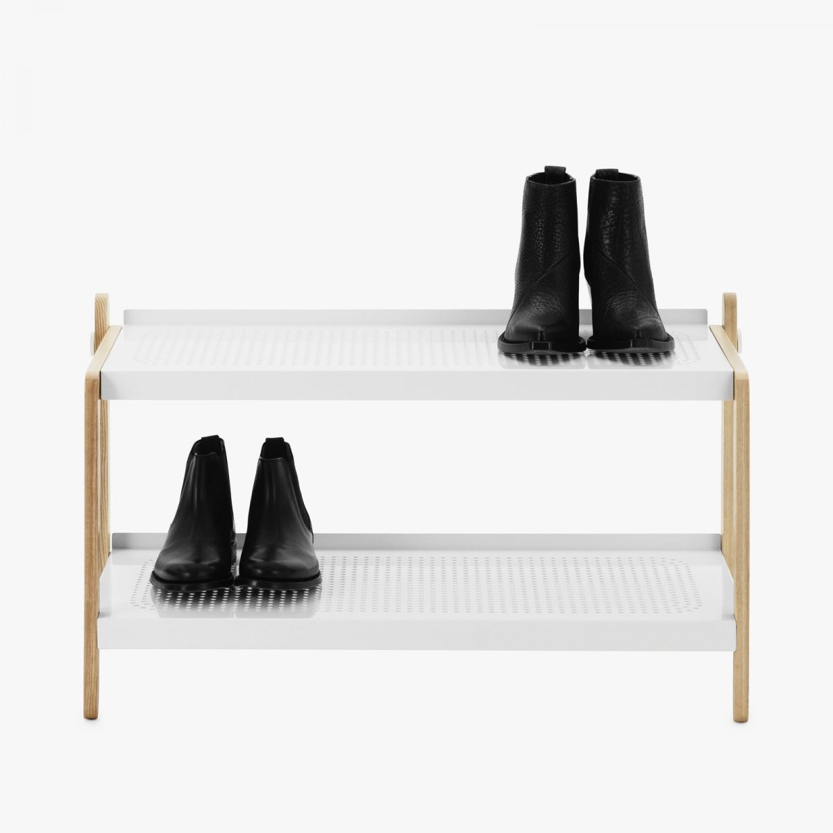 Sko Shoe Rack in white.