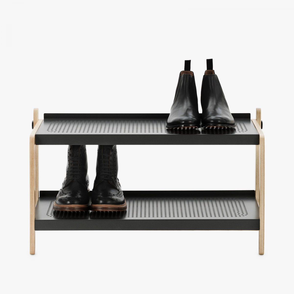 Sko Shoe Rack in gray.