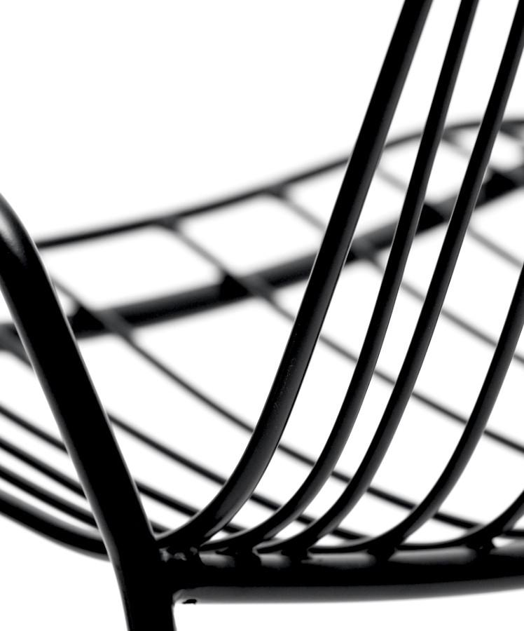 Resonate Armchair, black, detail.