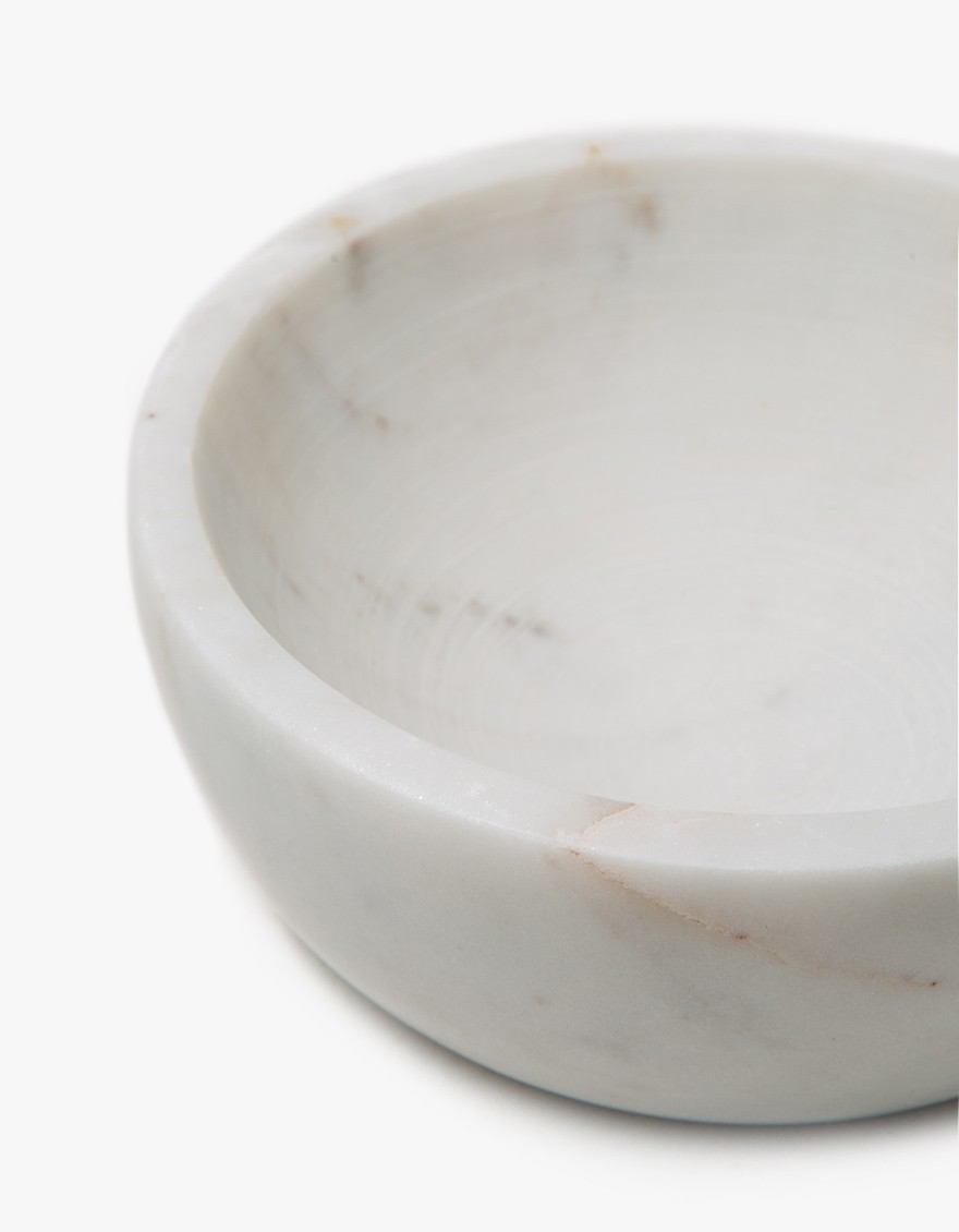 Mara Serving Collection - Medium Bowl White, detail.
