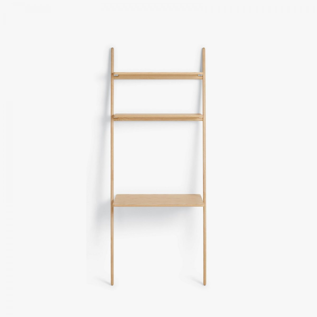 Folk Ladder Desk Shelving, ash.
