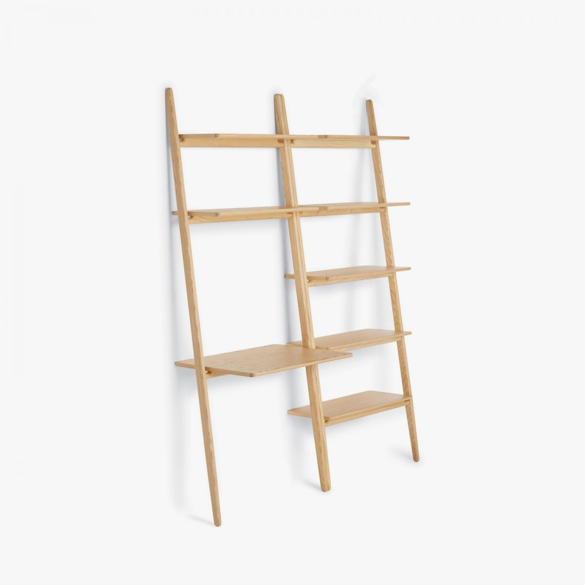Folk Ladder Shelving and Desk Shelving, ash.