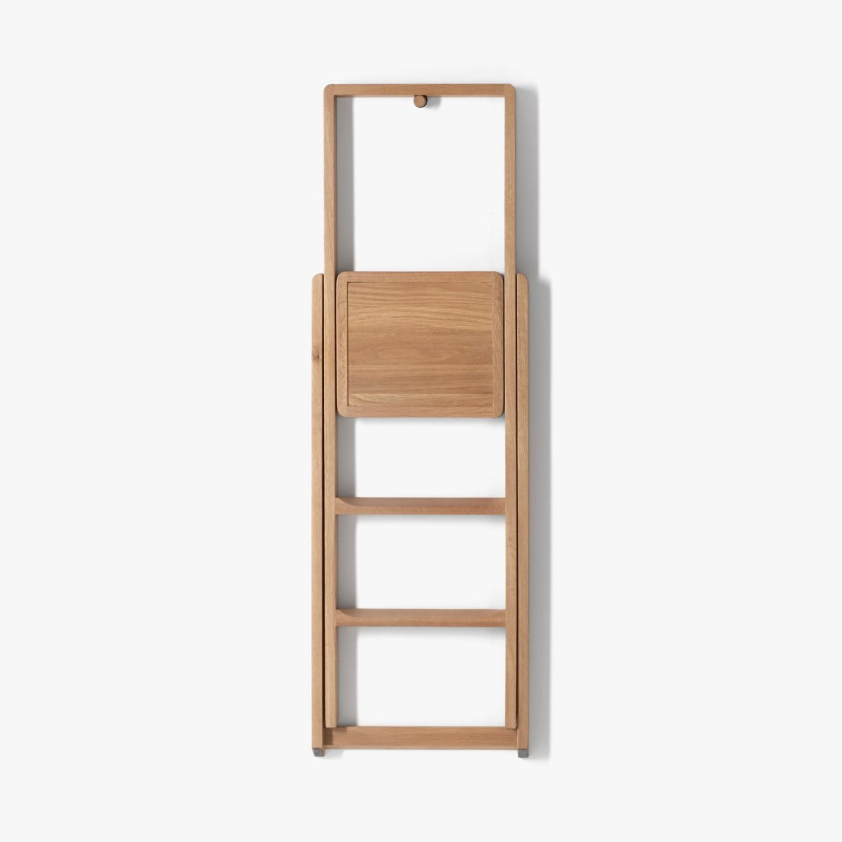 Step Stepladder, oak, folded.