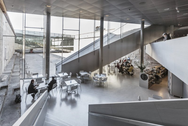 The M/S Café in the Danish Maritime Museum designed by BIG architects. © Rasmus Hjortshøj.