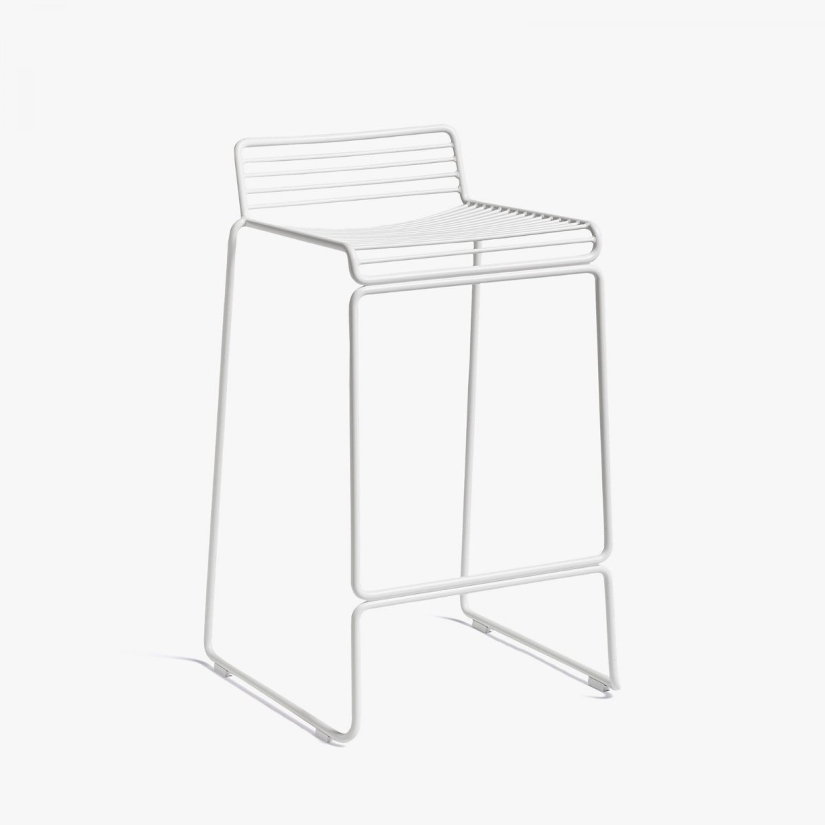 Hee Bar Stool, high, white.